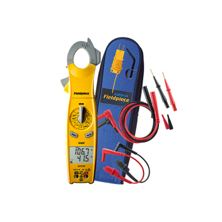SC640  TRMS Clamp Meter with Swivel AAC Clamp Head