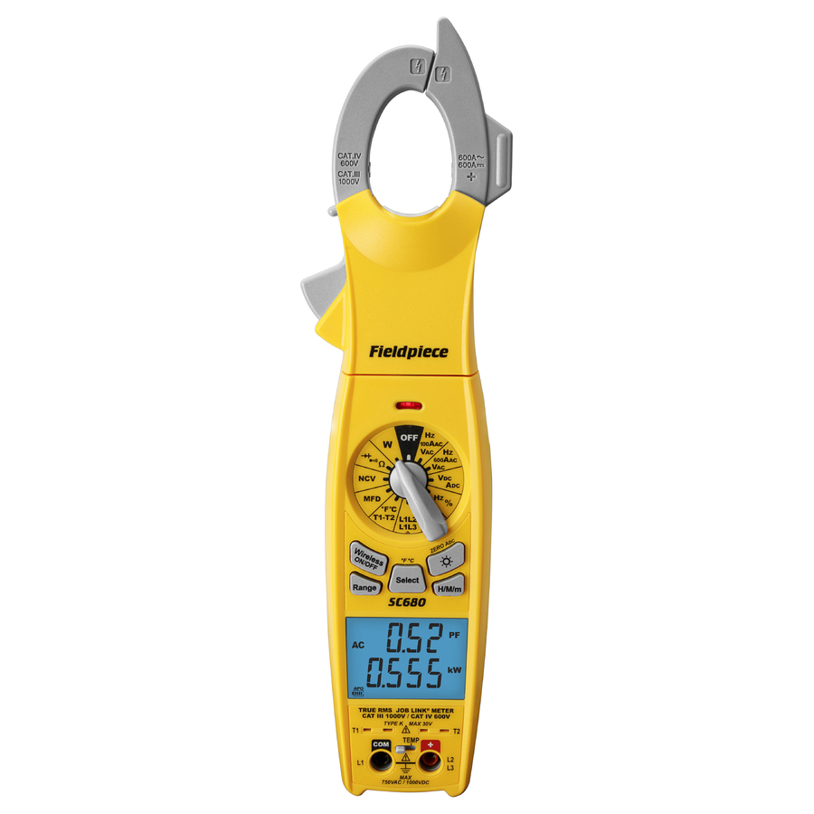 SC680INT : Trms AC/DC Amp Clamp Meter with Power function