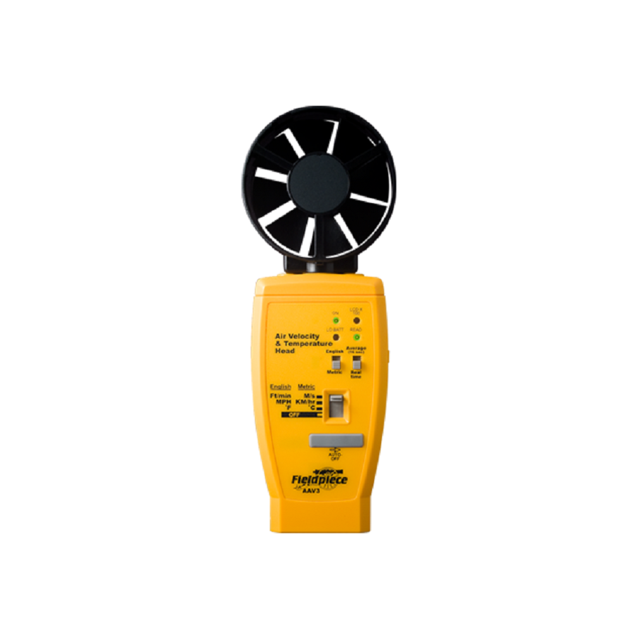 AAV3: Anemometer for Air Velocity with Temperature Accessory Head