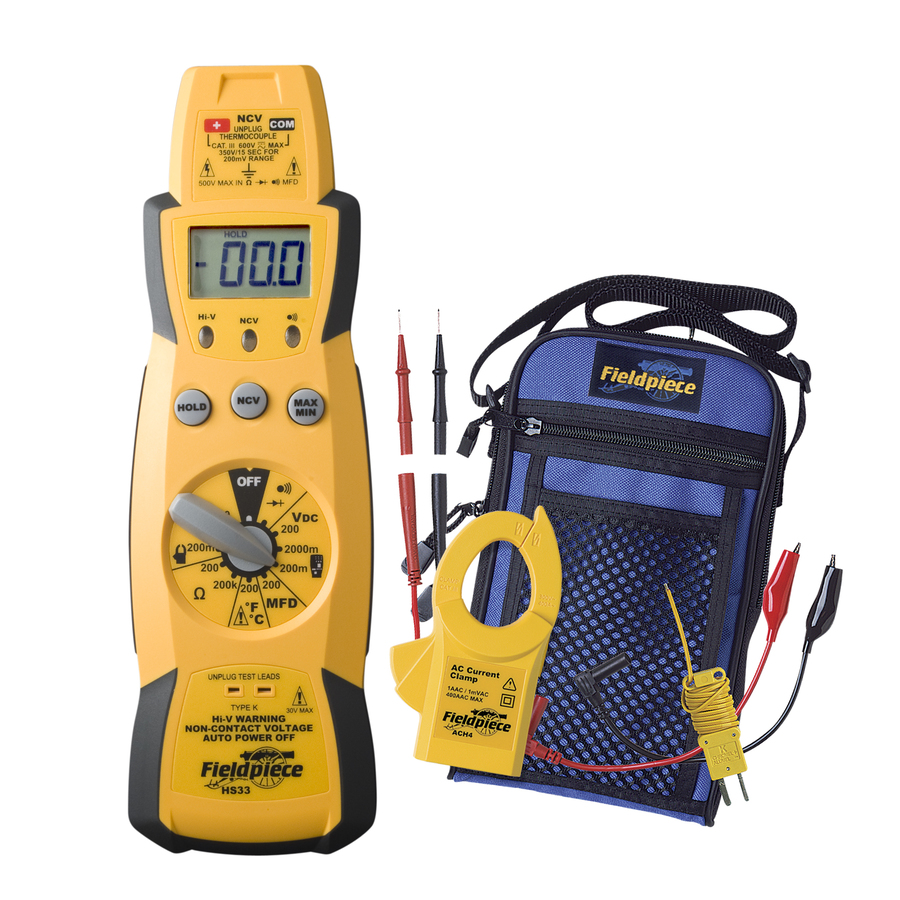 HS33: Stick MultiMeter Kit with 400AAC Clamp accessory