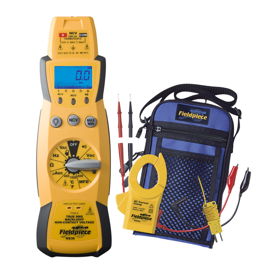 "HS36: TRMS ""Stick"" Multimeter Kit with 400AAC Clamp Accessory"